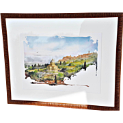 "REDUCED ""Iconic Views of Tuscany: Multipulciano, Chiesa de San Biagio"" #1 of 6 Colored ..."