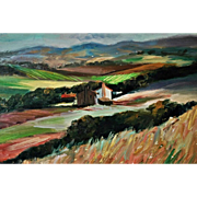 "REDUCED ""Tuscan Farm Landscape"" by Nino Pippa"