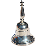 REDUCED English Sterling Silver Table Bell Marked for Lionel Alfred Crichton, London, 1930