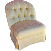 REDUCED Custom Tufted-Back 'Wanda' Boudoir Chair from Calico Corners