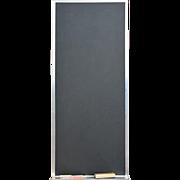 REDUCED Vintage Black Magnetic Chalk Board, Steel Trim, Accessories