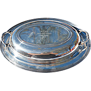 REDUCED Vintage Sheffield Silver Plate Covered Vegetable Dish with Divided Glass Insert