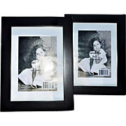 REDUCED Pair of Modern, Clean-Lined Black Matte Wooden Picture Frames