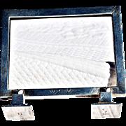 REDUCED Exceptionally Rare Art Deco Sterling Silver Frame Marked for Georg Jensen, Denmark