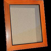 REDUCED 8x10 Solid 'Pecan' Colored Wood Frame, Black Inside Edge & Velvet Backing