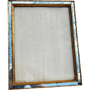 REDUCED Exceptional Vintage Custom Frame with Antiqued Mirror/Gilt Wood Edging