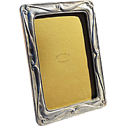 REDUCED Vintage Solid Pewter 'Scrolls' Picture Frame from The Bucklers, NYC