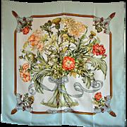 SOLD Rare Vintage Hermes 'Regina' Silk Scarf 1974
