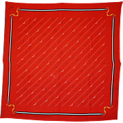 REDUCED For Your Best Valentine! : a Vintage Gucci Bright Red Silk Shoulder Scarf