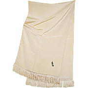 REDUCED Distinguished Vintage Gentlemen's Formal Silk Dress Scarf with Monogram