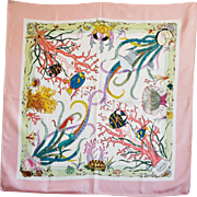 SOLD Vintage, Rare & Especially Beautiful Gucci 'Seabed' Silk Scarf