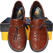 REDUCED Sporty Brown Woven Leather Loafers, Solvei by Dansko