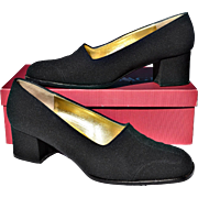 "REDUCED Elegant Black Bruno Magli Square 2"" Dress Heels"