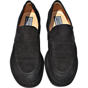 REDUCED Vintage Black Suede Loafer from Designer Elizabeth Stuart