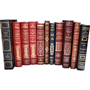 REDUCED Set of Eleven (11) Vintage Franklin Library Leather & Gilt Tooled Books – Lot 'Bâ€