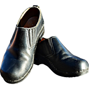 REDUCED Dansko Black Leather Clogs from Denmark Gently Used