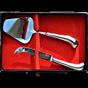 Vintage Hoffritz Stainless Steel Cheese Knife & Slicer Set