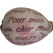 SOLD Decorative French Vintage Hand Carved Seashell
