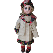 original factory made by SFBJ-JUMEAU -silk DRESS FOR AROUND 13 inch doll