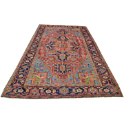 Antique Persian Heriz Rug Circa 1900