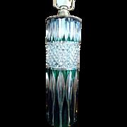 SALE ILLUMINATING - Formidable VAL-SAINT-LAMBERT Emerald Cut Glass Table Lamp - 19th Century .