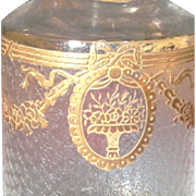 SALE Baccarat / Saint-Louis, France -- BASKET DESIGN -- Sensational 9-pc Gilded Luxury Vanity