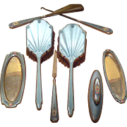 SALE BOXING DAYS ARE HERE --- THOMAE 8-piece MANICURE Set for Boudoir Vanity Dresser - 1900s .