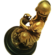 SALE OK1 - Orientalist Art - Wonderful Nude Water Carrier Holding Amphora - Circa 1900 Bronze