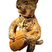 SALE Orientalist Art - Georg Heyde Hollowcast Metal Figurine - Superb NODDING Bobblehead Felin