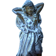 SALE Orientalist Art - Cold Painted Polychrome Figural Bronze from Austria - Inkwell / Incense