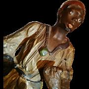SALE 1900's Orientalist Art / Germany - Georg Heyde Antique Metal Figurative Sculpture - ...