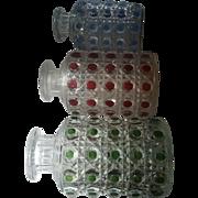 SALE BACCARAT France: Pierreries Model – Three Diamond Cut Crystal Perfume Scent Bottles / I