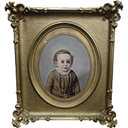 SOLD John Wood Dodge Hand Colored Photograph dated 1888
