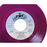 Elvis Presley limited edition 45rpm record on purple vinyl, Good Rockin' Tonight