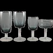 4 glasses by Gorham, Summer Sky-Platinum