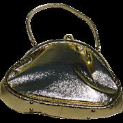 Bold gold lame purse vintage 1960s, JR Miami, Julius Resnick... excellent vintage condition