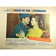 Original vintage lobby card from Bugles In The Afternoon with Ray Milland, Forrest Tucker, etc