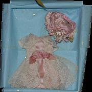 Gorgeous Lace Dress and Bonnet for Mignonette Doll