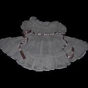 """Circa 1900 Pale Pink Organdy Dress for 20-21"""" Bru, Jumeau, Steiner"""