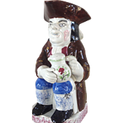 Antique English Toby Jug Pearlware Body circa 1795