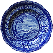19th Century Historical Staffordshire Plate of Washington at Alexandria  ca 1820