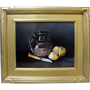 SALE Frederic Baccalino Listed Dutch Master School French Realism Still Life 11x13