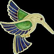 Vintage Hummingbird Figural Pin