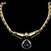 18K Tanzanite and Diamond Pendant Necklace