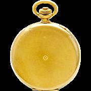 Scarce 14K Gold IWC Hunter Case Pocket Watch