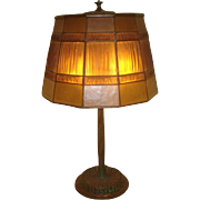 Vintage Tiffany Studios Linenfold Table Lamp