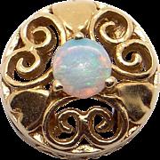Vintage Estate 10k Yellow Gold Multi Color Opal Slide Bracelet Charm Pendant