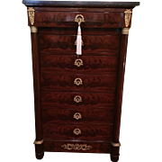 REDUCED French 7 Drawer tall chest