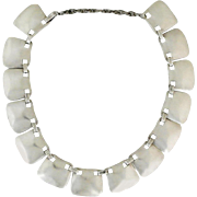Hector Aguilar .940 Silver Link Necklace