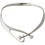 Sigi Pineda Necklace Taxco Sterling Silver Pearl 1960